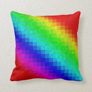 Groovy Rainbow Mosaic Tiles Pattern, Throw Cushion