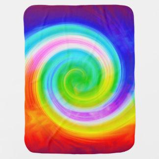 Groovy Rainbow Swirl Baby Blanket