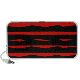 Groovy Red and Black Stripes Speaker System