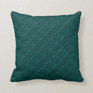 Groovy Retro Abstract Swirls Aquamarine Teal Cushion