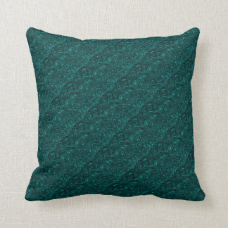 Groovy Retro Abstract Swirls Aquamarine Teal Throw Pillow