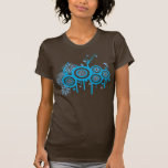 Groovy Retro Bubbles & Flowers Tee Shirt