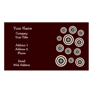 Groovy retro circles business cards template