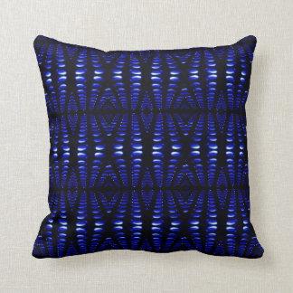 Groovy Retro Cobalt Blue Lava Bubbles pillow