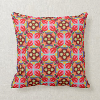 Groovy Retro Colorful Abstract Art Pillow