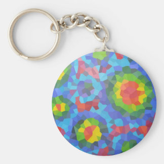 Groovy Retro Crystallized Circles Key Chains