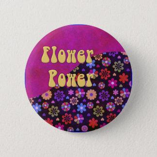 Groovy Retro Flower Power 60s 70s 6 Cm Round Badge