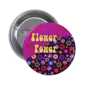 Groovy Retro Flower Power 60s 70s Pinback Button