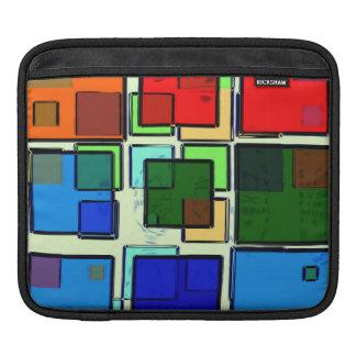 Groovy Retro Geometric Squares iPad Sleeves