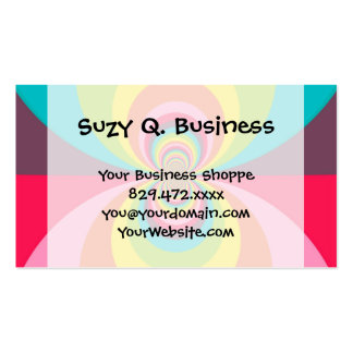 Groovy Retro Hippie Vintage Rainbow Kaleidoscope Business Card Templates