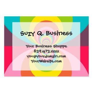 Groovy Retro Hippie Vintage Rainbow Kaleidoscope Business Card Template