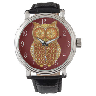 Groovy Retro Owl Watch - Cool Owl Art!