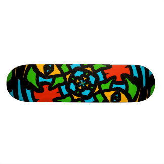 Groovy Retro Puzzle Abstract Custom Skateboard