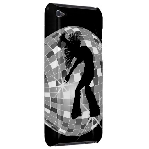 Groovy Retro Singer Dancer on Silver Disco Ball iPod Touch Case