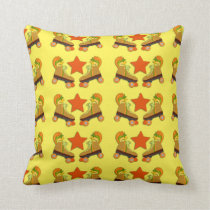 Groovy Retro Skate Pattern Cushion