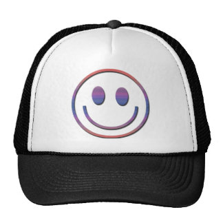Groovy Retro Smiley Face Mesh Hats