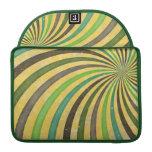 Groovy Retro Spiral Sunbeam Ray Swirl Design Sleeves For MacBooks