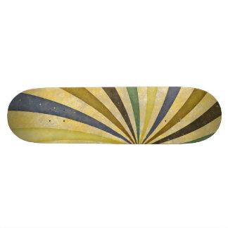 Groovy Retro Spiral Sunbeam Ray Swirl Design Skate Boards