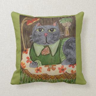 Groovy Seventies Cat Cushion