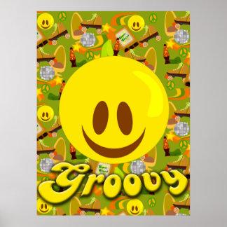 Groovy Seventies Pattern Poster