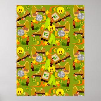 Groovy Seventies Pattern Posters