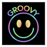 Groovy Smiley Face Poster