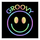 Groovy Smiley Face | Retro 70's Poster