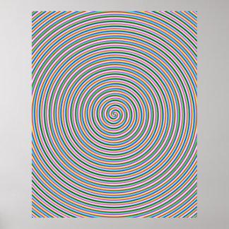 Groovy Spiral Print