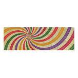 Groovy Spiral Sunbeam Ray Swirl Design Grungy Business Card