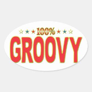 Groovy Star Tag Stickers