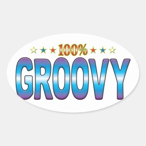 Groovy Star Tag v2 Sticker