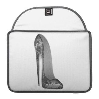 Groovy stiletto shoe art Rickshaw Flap Sleeve MacBook Pro Sleeves