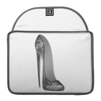 Groovy stiletto shoe art Rickshaw Flap Sleeve MacBook Pro Sleeves
