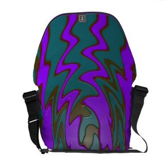 groovy teal purple design commuter bags