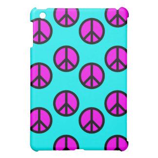 Groovy Teen Hippie Teal and Purple Peace Signs iPad Mini Case