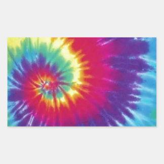 Groovy Tie Dye Hippie Style Rectangular Sticker