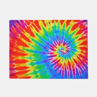 Groovy Tie Dye Spiral Rainbow Doormat