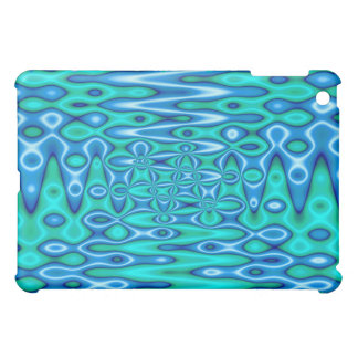 groovy turquoise blue iPad mini cover