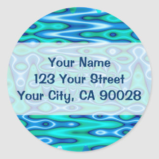 groovy turquoise blue sticker