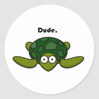 Groovy Turtle Dude Cartoon Sticker