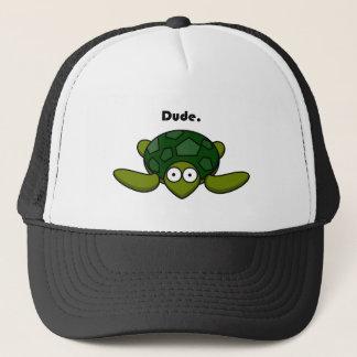Groovy Turtle Dude Cartoon Trucker Hat