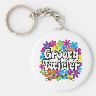 Groovy Twirler Keychains