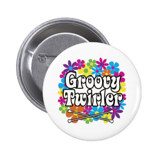 Groovy Twirler Pinback Buttons