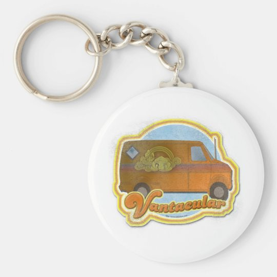 Groovy Vantacular Seventies Van Basic Round Button Key Ring