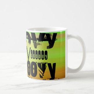 Groovy; Vibrant Green, Orange, & Yellow Classic White Coffee Mug