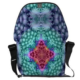 Groovy  Vintage    Kaleidoscope Courier Bags