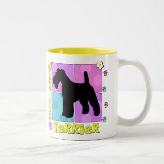 Groovy Wire Fox Terrier Two-Tone Coffee Mug