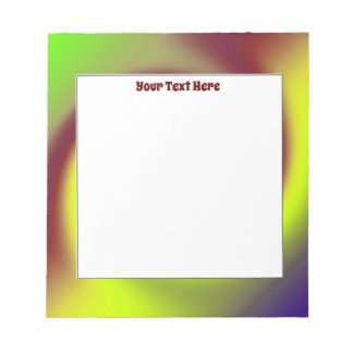 Groovy Yellow and Brown Swirl Notepad
