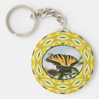 Groovy Yellow Butterfly Keychain