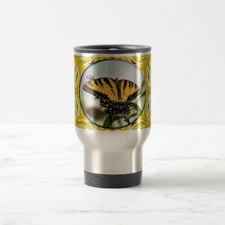 Groovy Yellow Butterfly Travel Mug